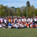 240 enfants à Clairefontaine, événement sportif organisé par la Facel