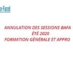 Annulation des sessions Bafa / été 2020